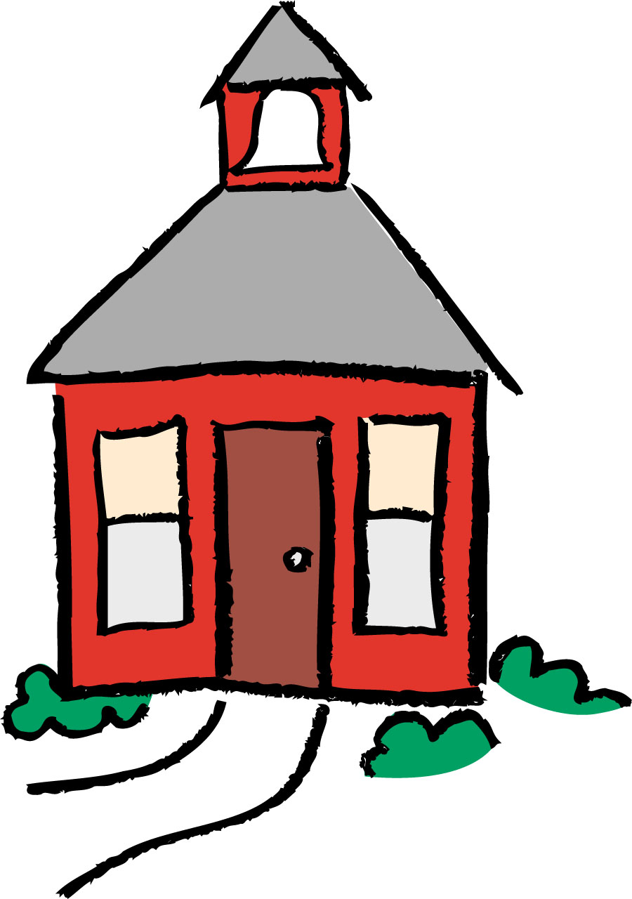 Schoolhouse school house clipart free images