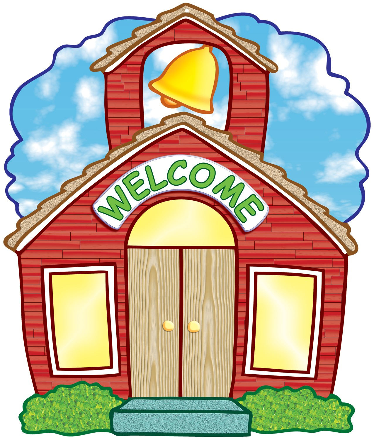 Schoolhouse school house clipart