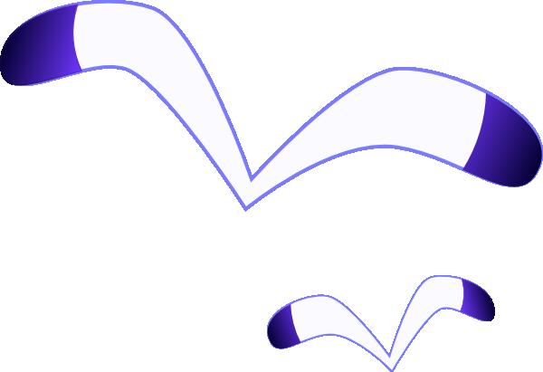 Seagulls symbol clip art at vector clip art