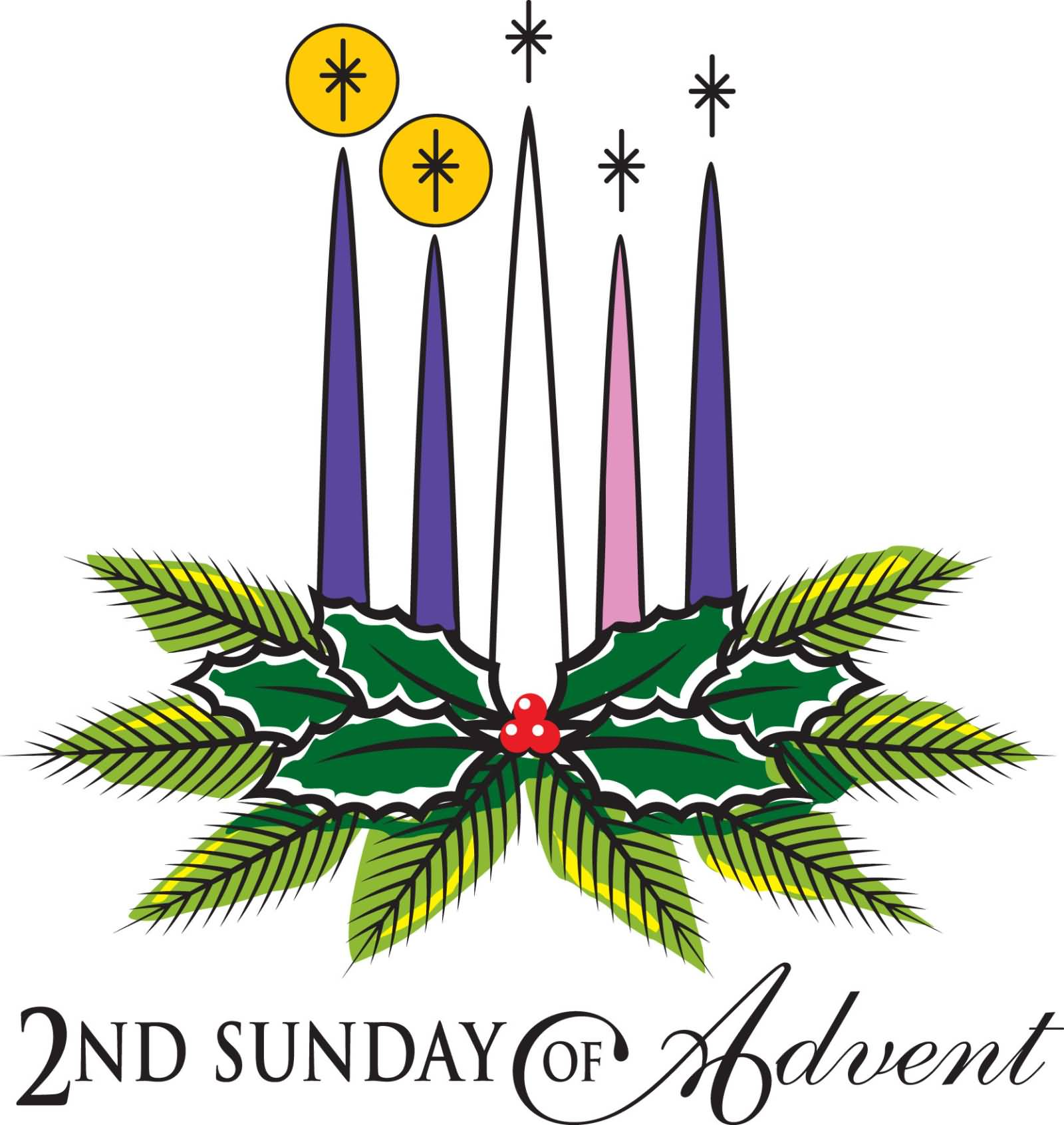 Second sunday of advent clipart 2
