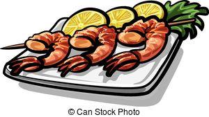 Shrimp dinner clipart clipartfest