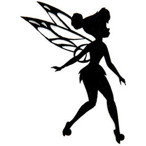 Silhouette tinkerbell clipart 2