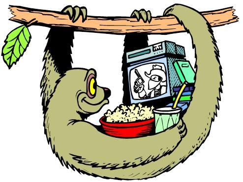 Sloth seven deadly sins clip snark clip art