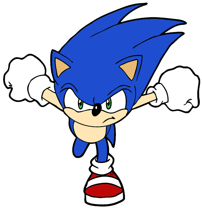 Sonic the hedgehog clipart clipartfest