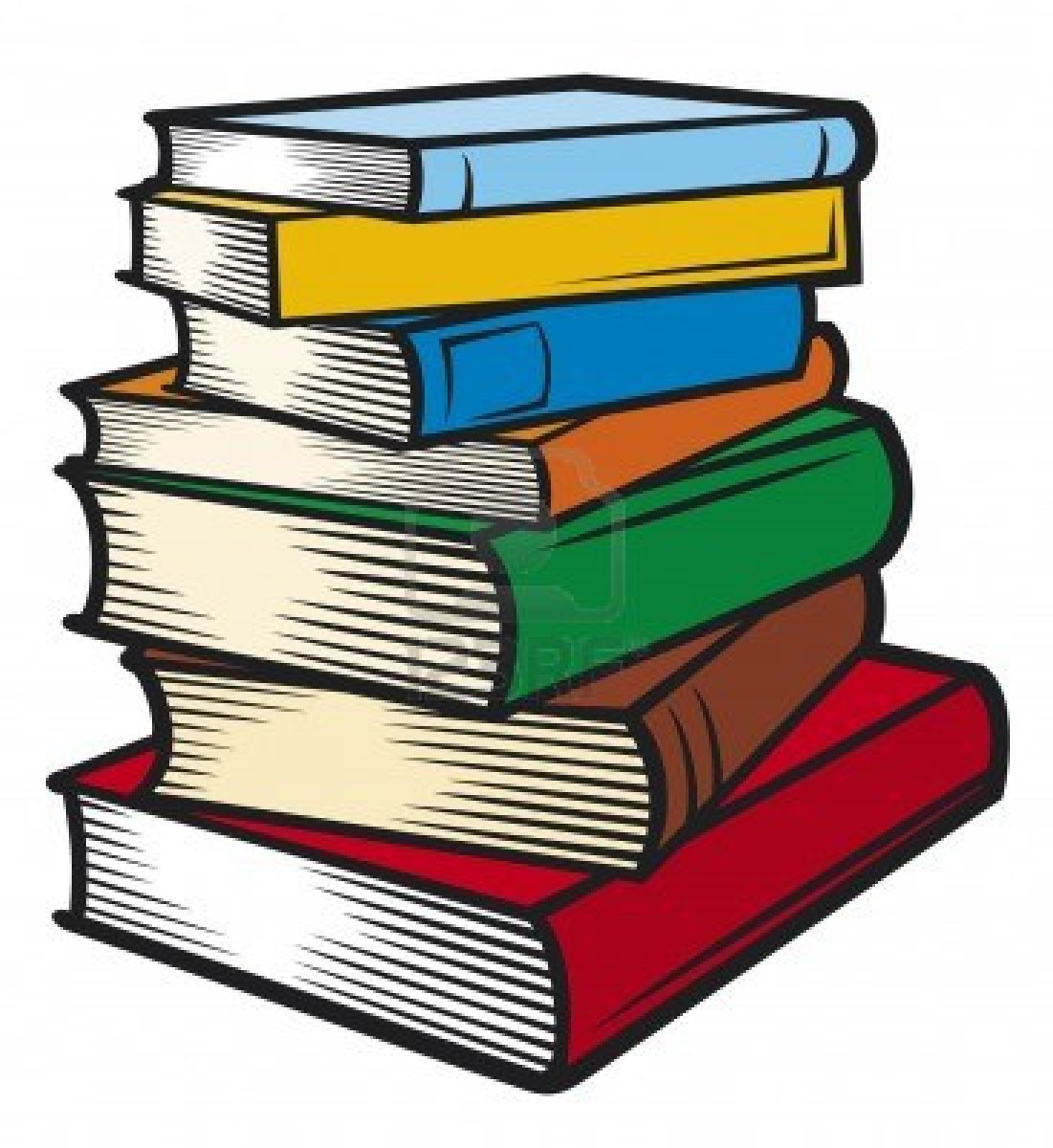 Stack of books clipart free images 2