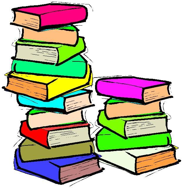 Stack of books clipart free images 3