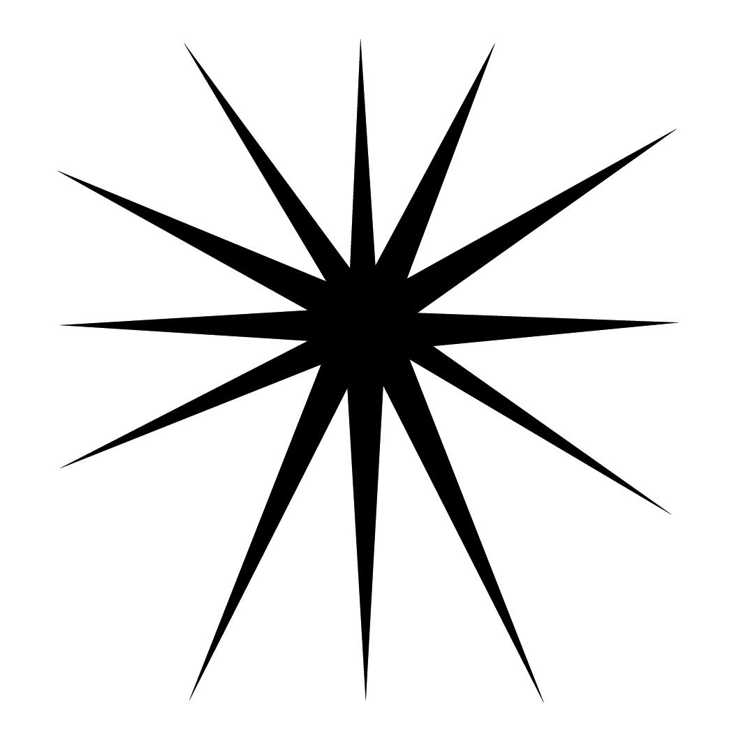 Starburst clip art outline free clipart images 6