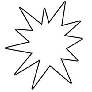 Starburst clip art outline free clipart images 7
