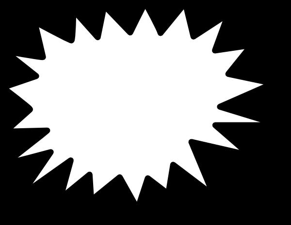 Starburst clip art outline free clipart images