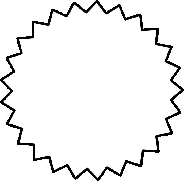 Starburst clipart 4