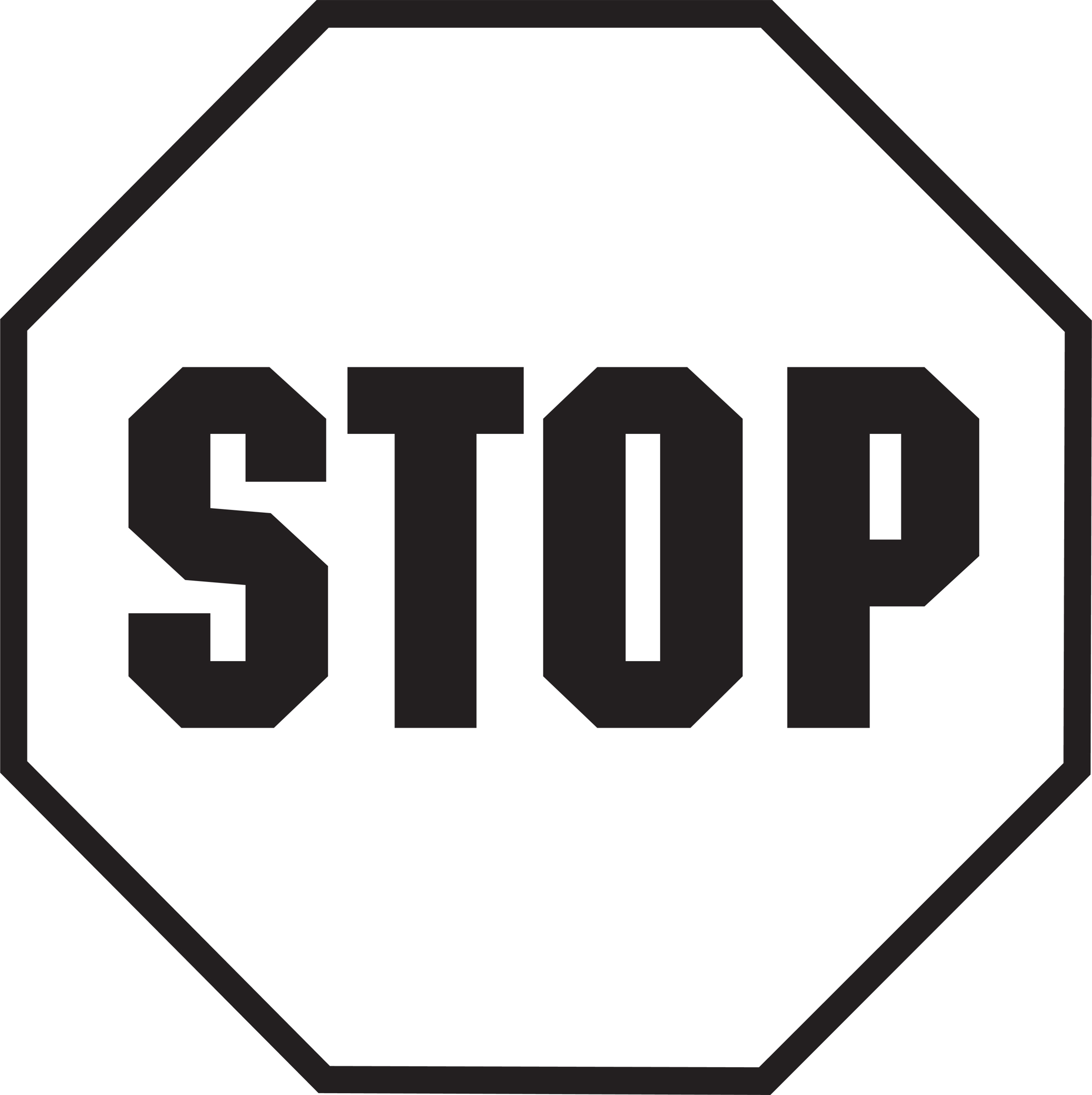 Stop sign clipart 2