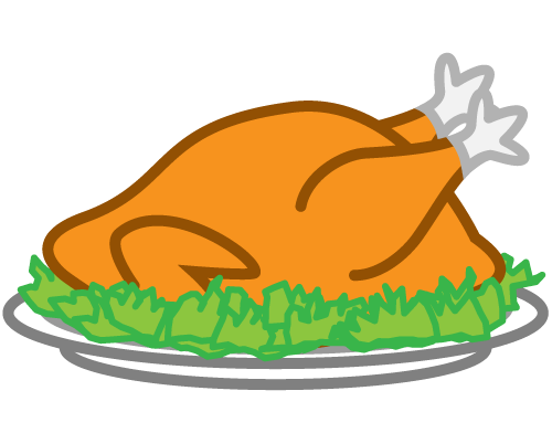Thanksgiving ham clipart 2