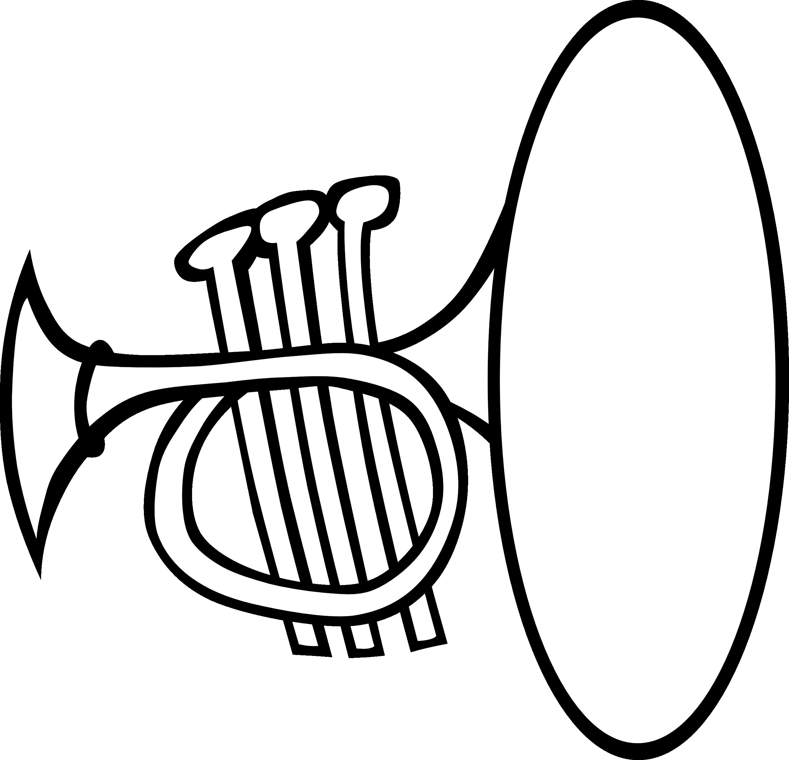 Trumpet clip art black and white clipartfest