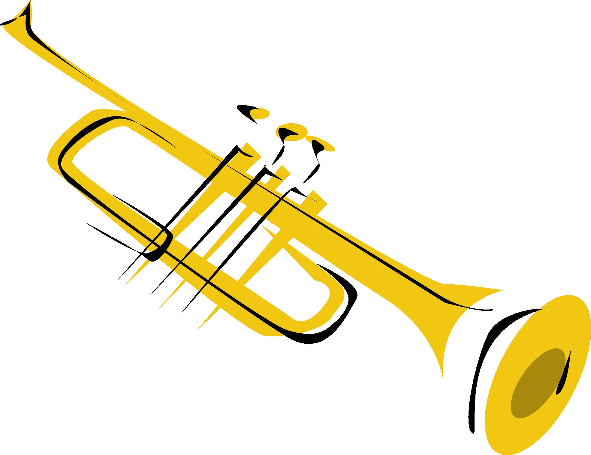 Trumpet clip art free clipart images 4