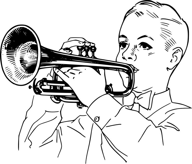 Trumpet clip art free