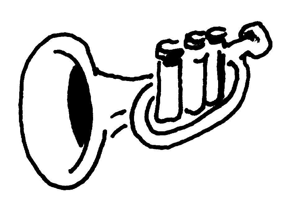 Trumpet notes clipart