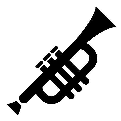 Trumpet silhouette clipart