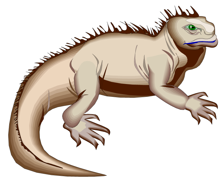Water iguana clipart clipartfest 2