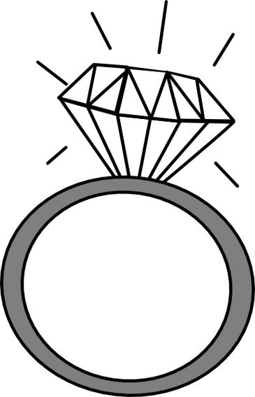 Wedding engagement clipart