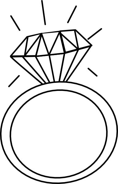 Wedding ring engagement clipart free cliparts and