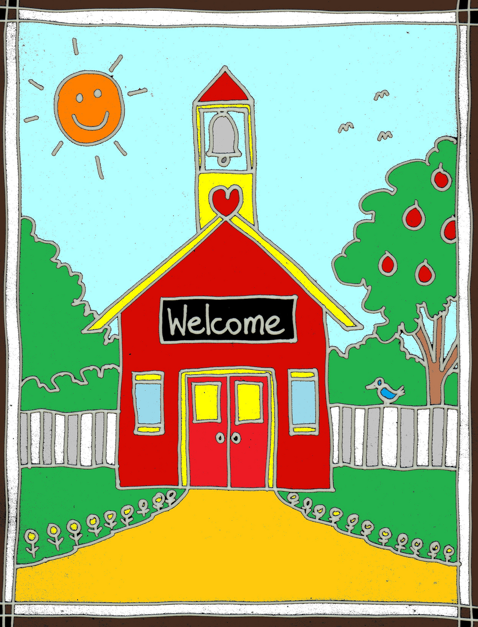 Welcome back to school schoolhouse clipart clipartfest