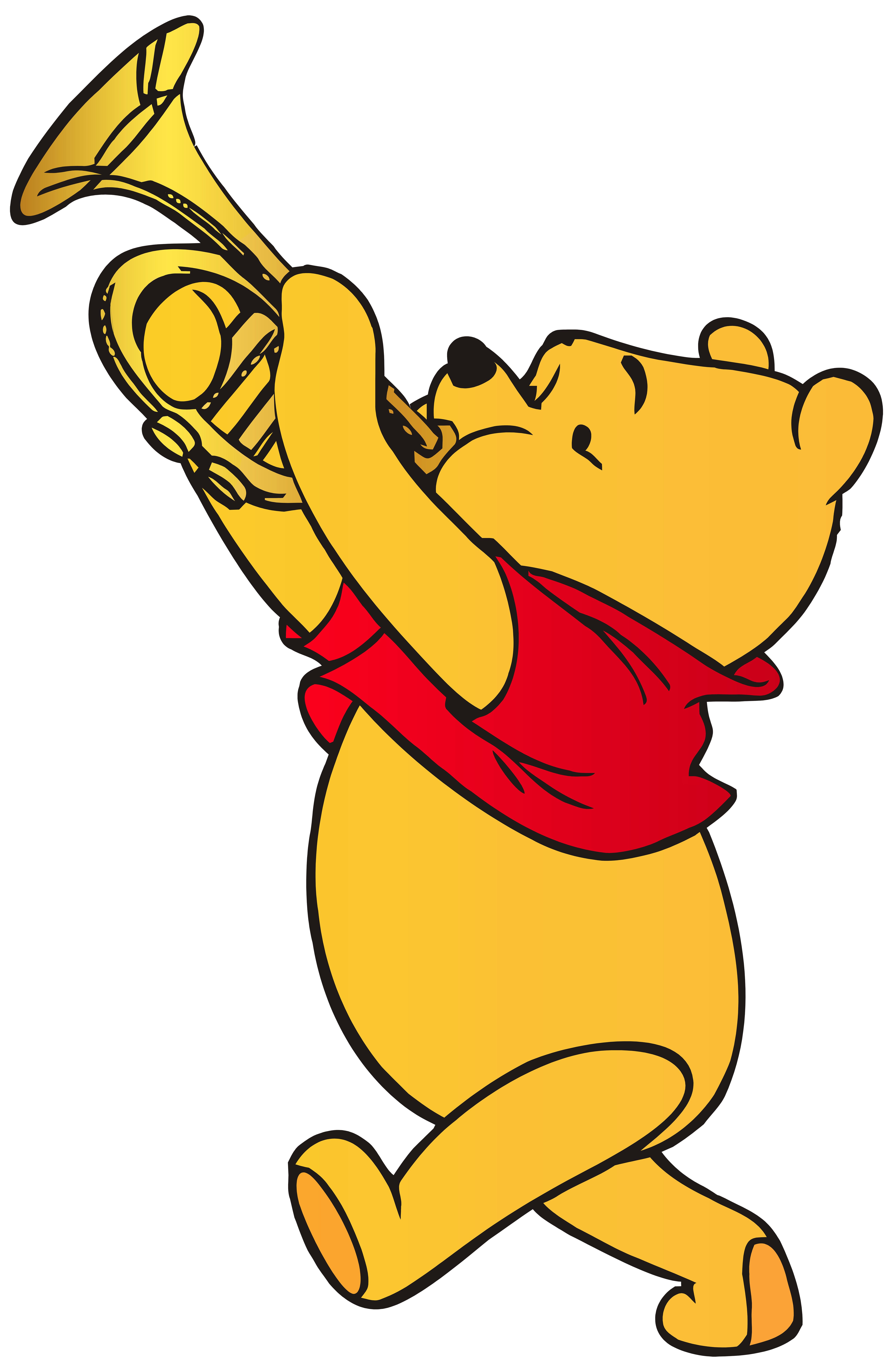 Winnie the pooh playing trumpet clip art web clipart