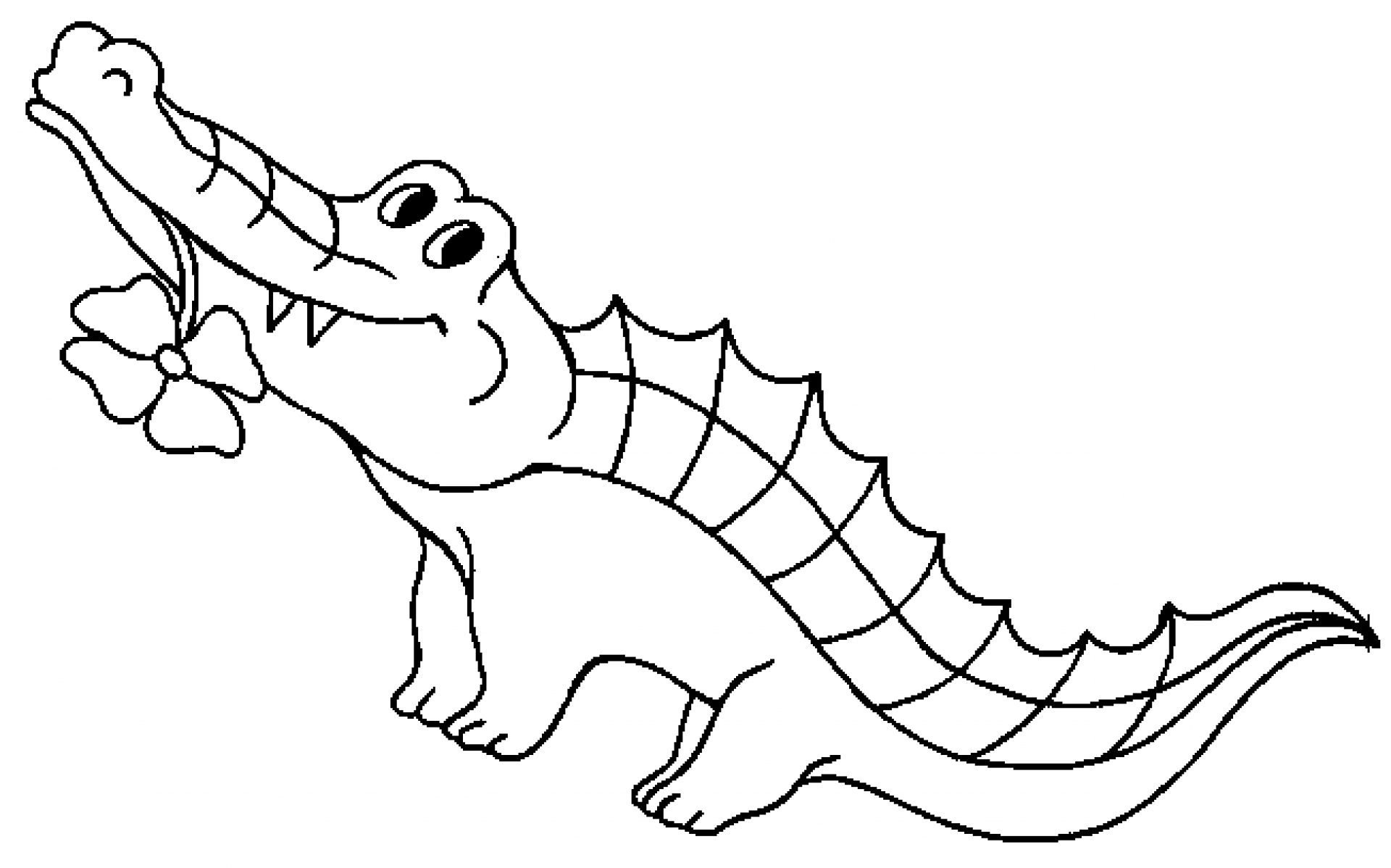 Alligator  black and white alligator black and white clipart 2