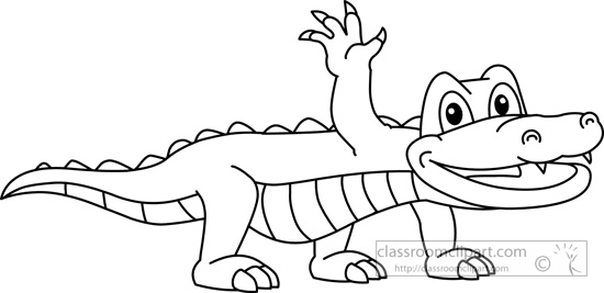 Alligator  black and white alligator black and white clipart 3