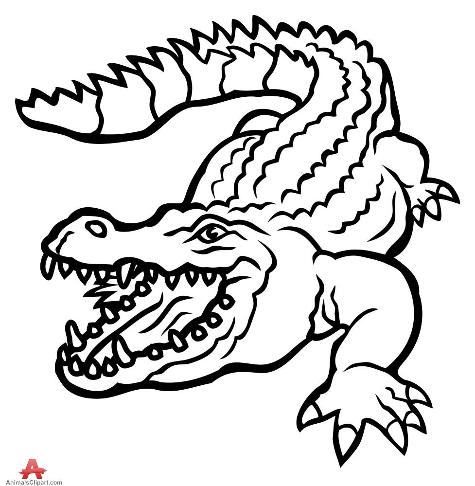 Alligator  black and white alligator black and white clipart clipartfest 2
