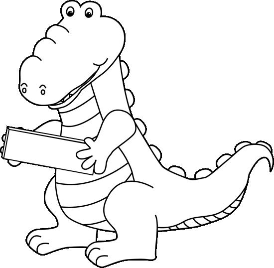 Alligator  black and white alligator clip art images