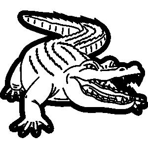 Alligator  black and white gator black and white clipart 3