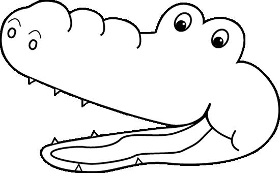 Alligator  black and white gator black and white clipart 5