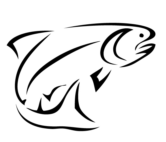 Bass fish outline clip art