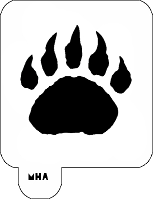 Bear paw clip art hostted 2