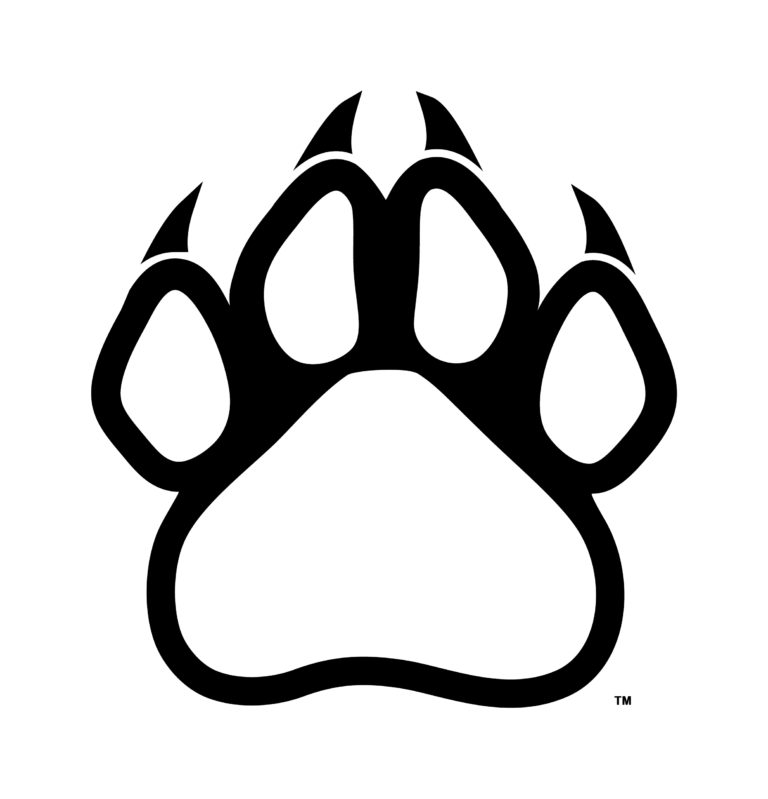 Bear paw clip art print paw outlinewildcat