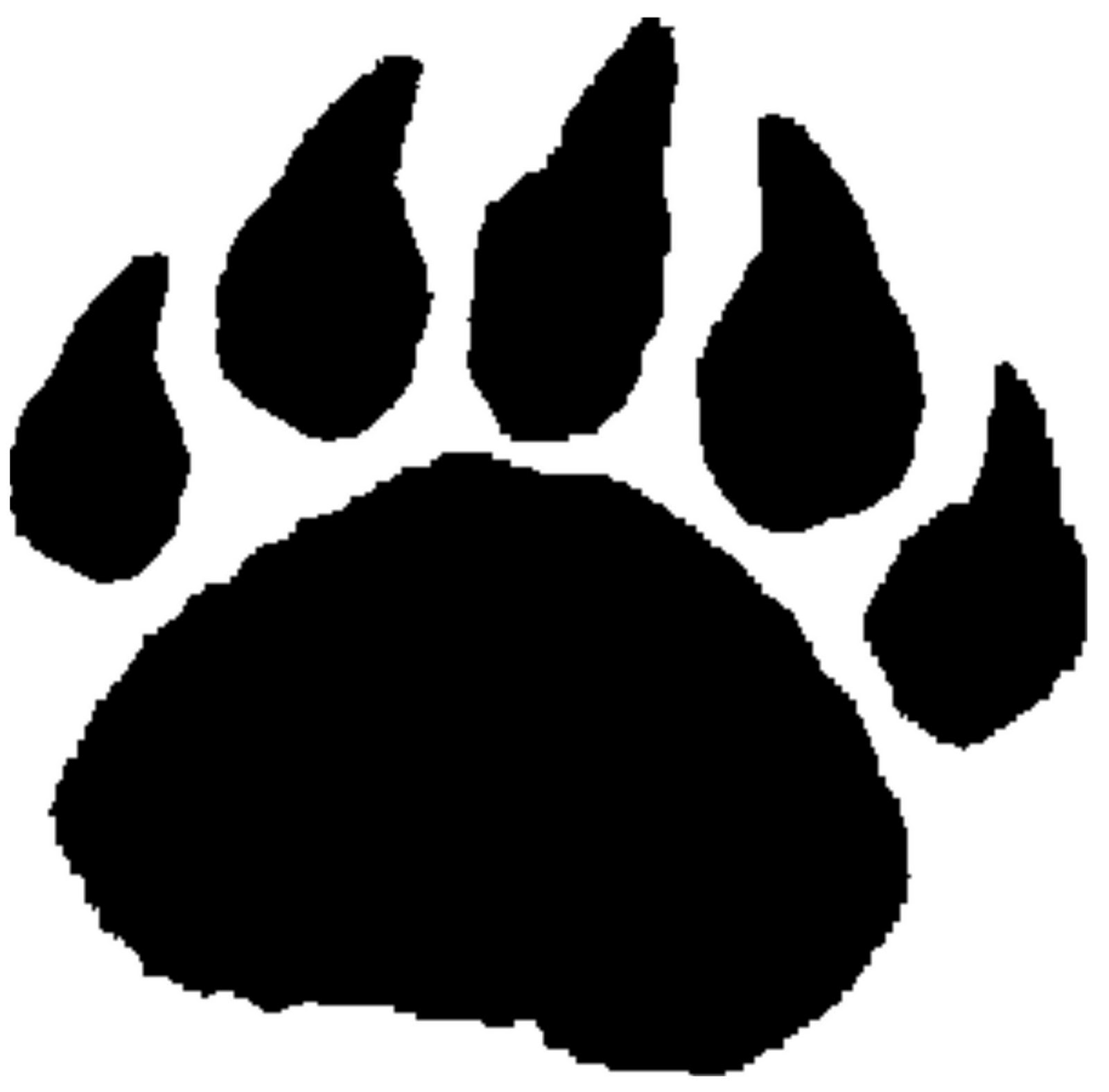 Bear paw clipart