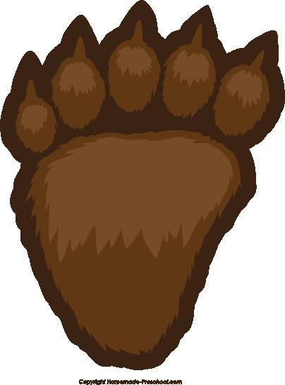 Bear paw free paw prints clipart 3
