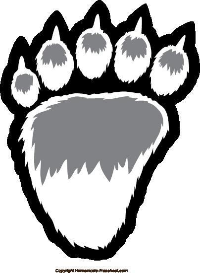 Bear paw free paw prints clipart