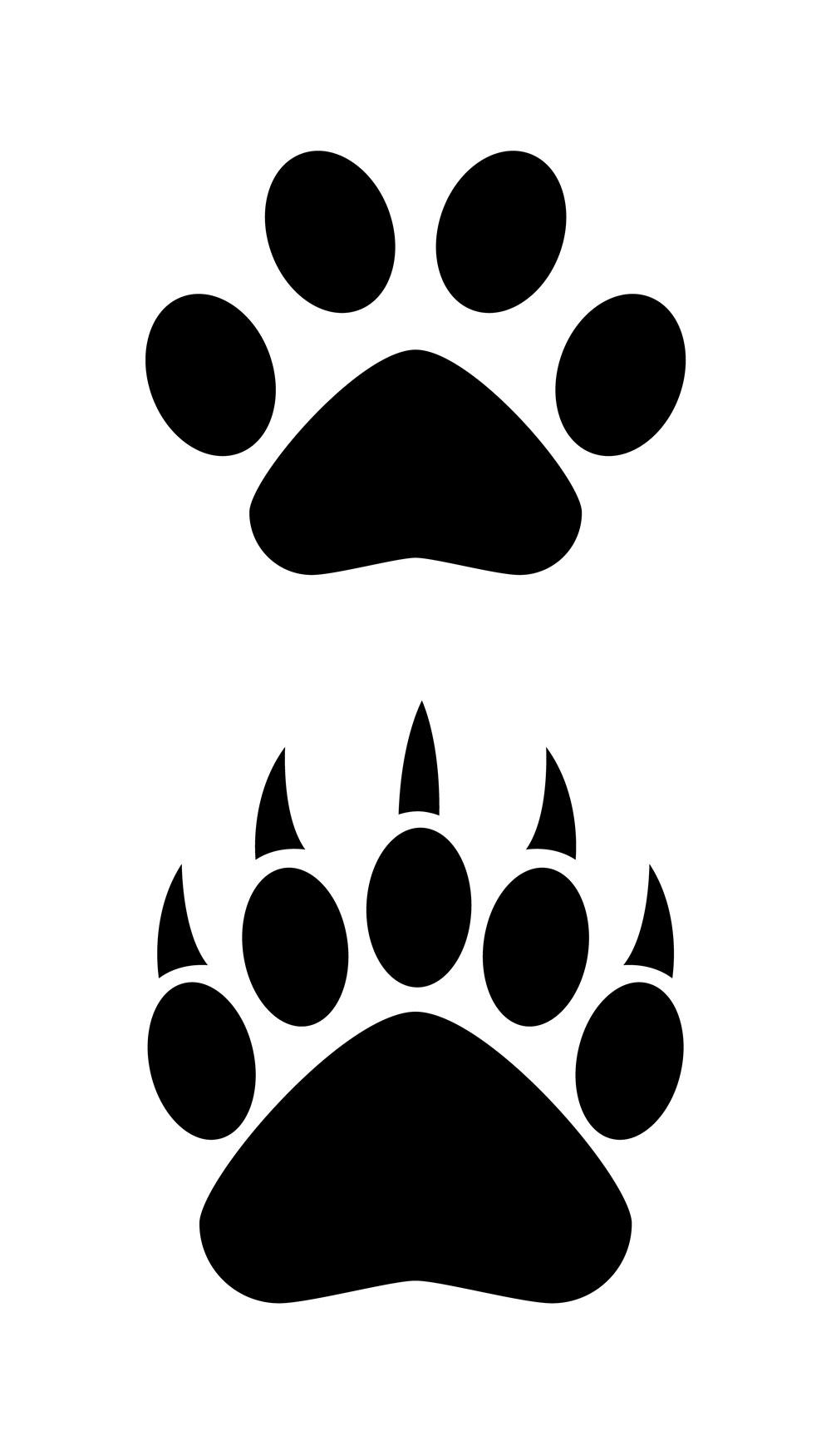 Bear paw logo clipart
