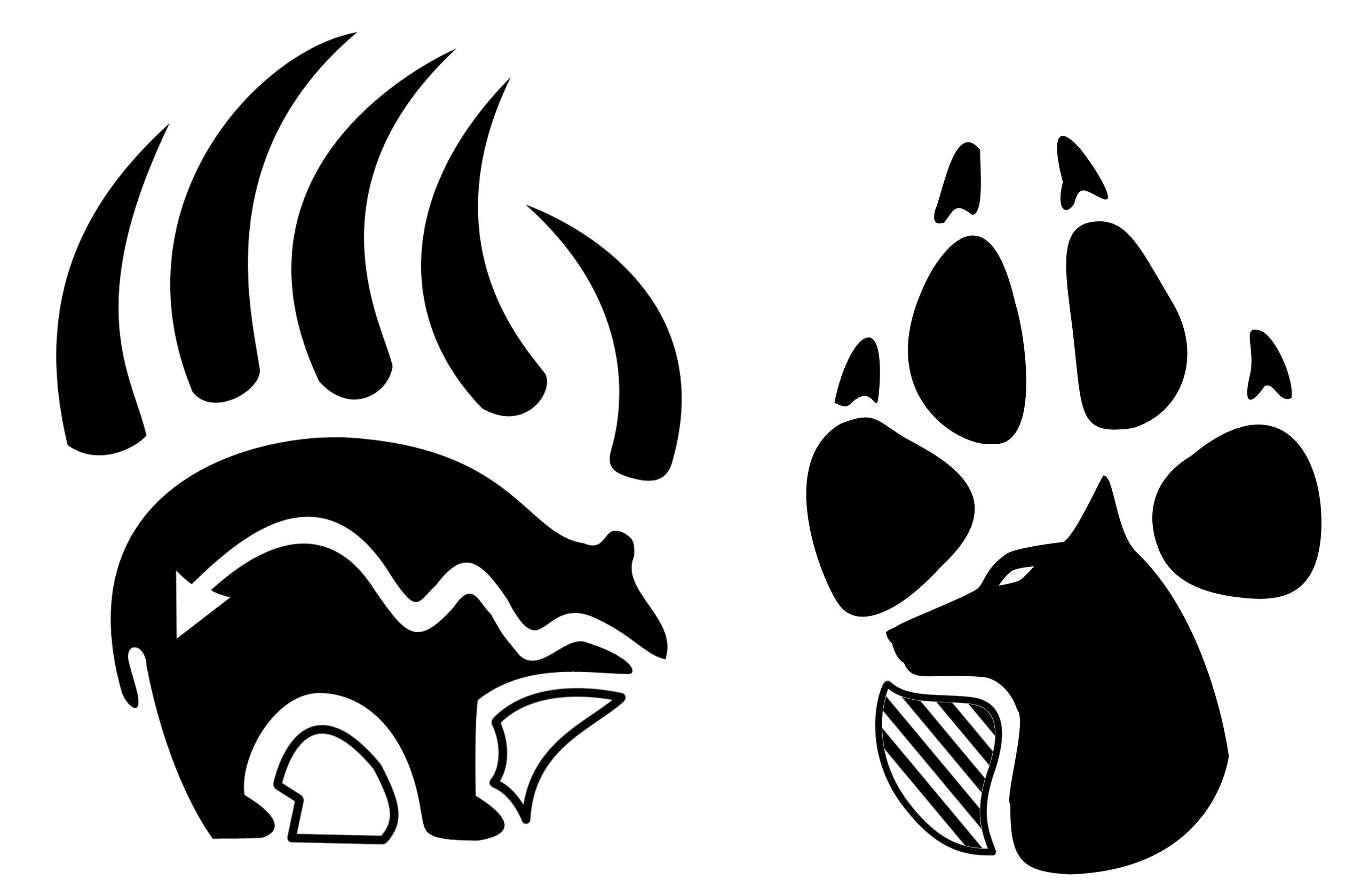 Bear paw native american bear clip art cbra 2