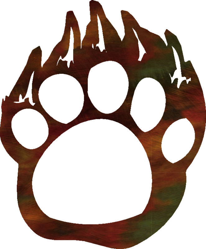 Bear paw outline free download clip art on 2