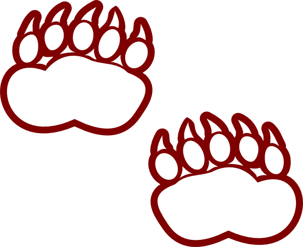 Bear paw outline free download clip art on 3