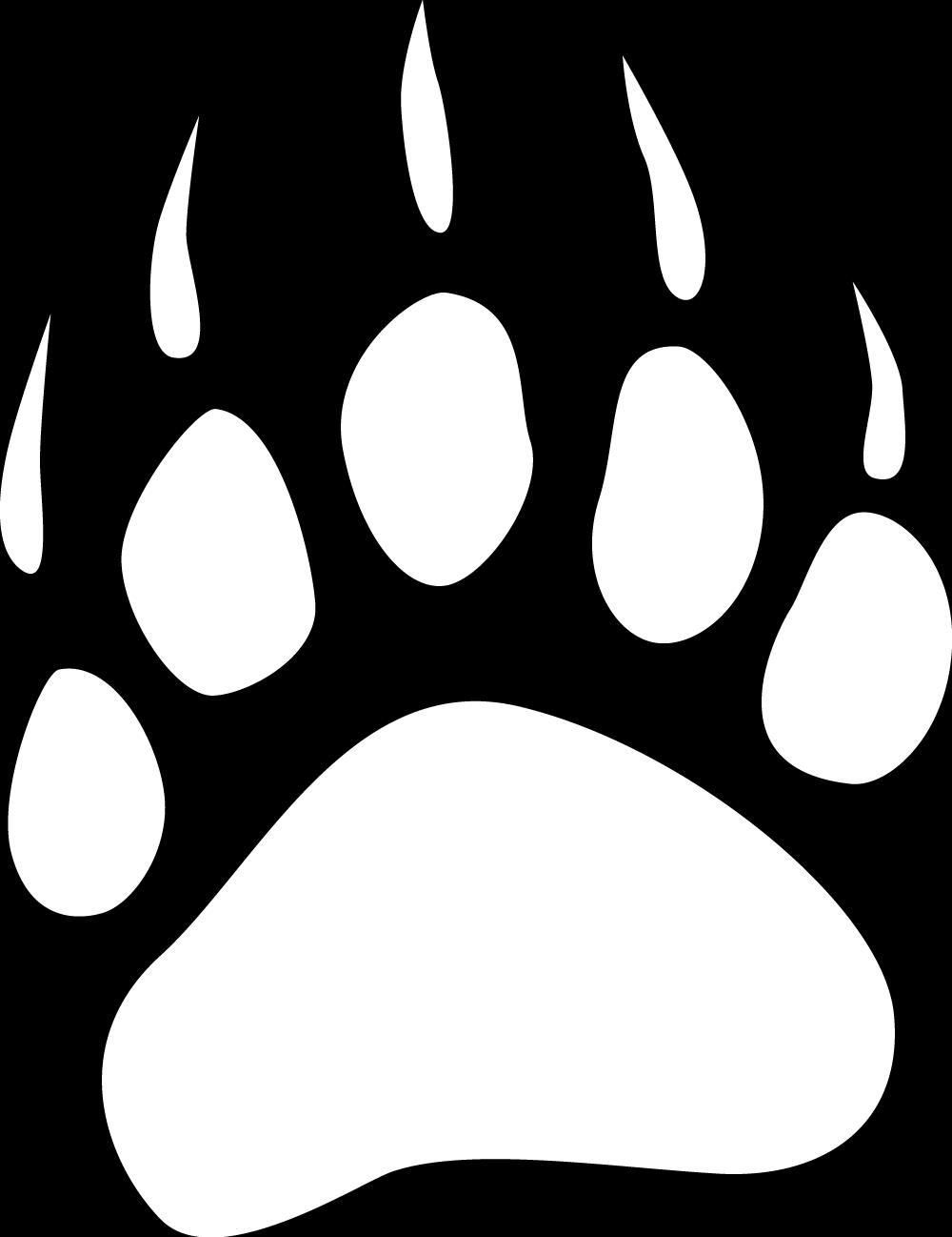 Bear paw print clipart