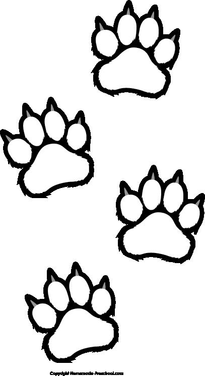 Bear paw prints clip art clipartfest 3