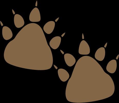 Bear paw prints clip art image
