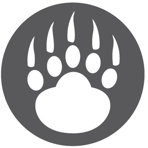 Bear paw tracks clipart