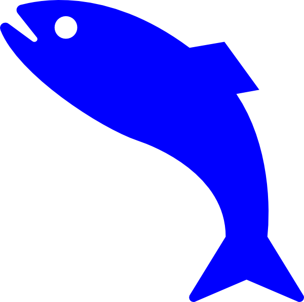Blue fish outline clipart clipartfest 3