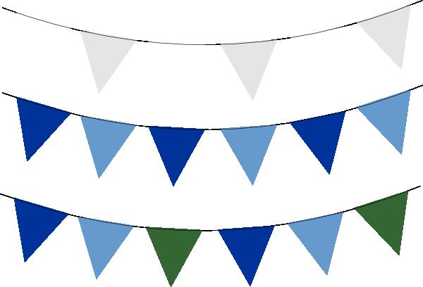 Blue flag banner clipart clipartfest