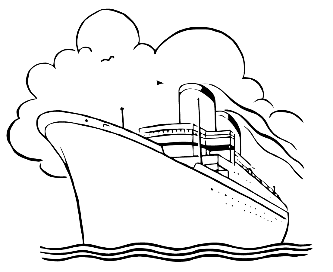 Boat Black And White Cruise Ship Black And White Clipart Clipartfox Wikiclipart