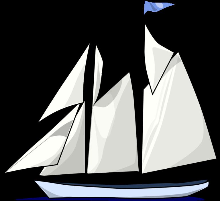 лодка парусная рисунок
